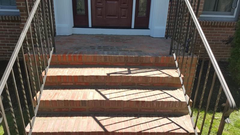New Brick Stairwall and Landing